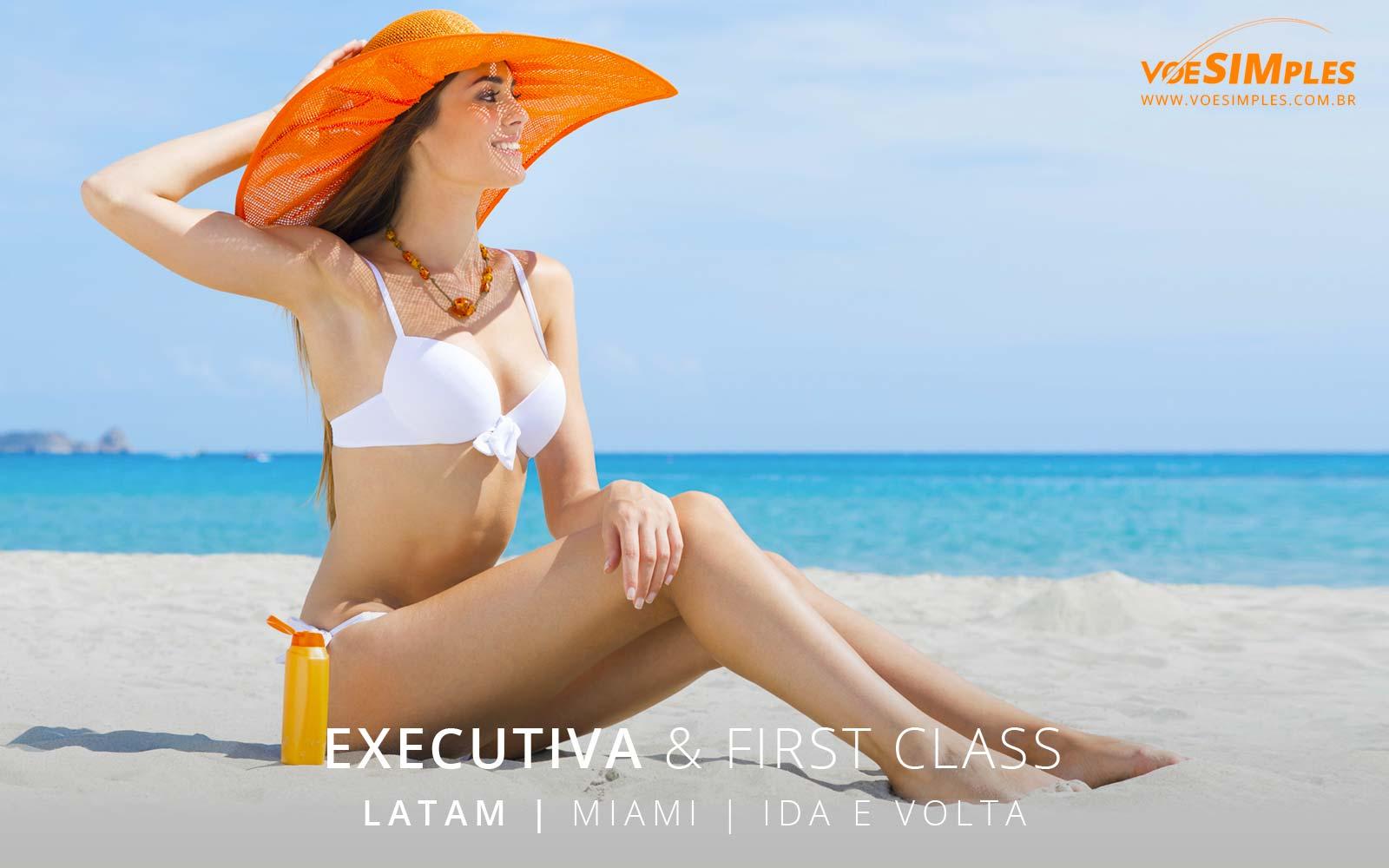 Passagem aérea classe executiva Latam para Miami