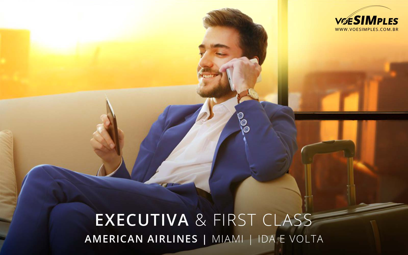 Passagem aérea executiva American Airlines