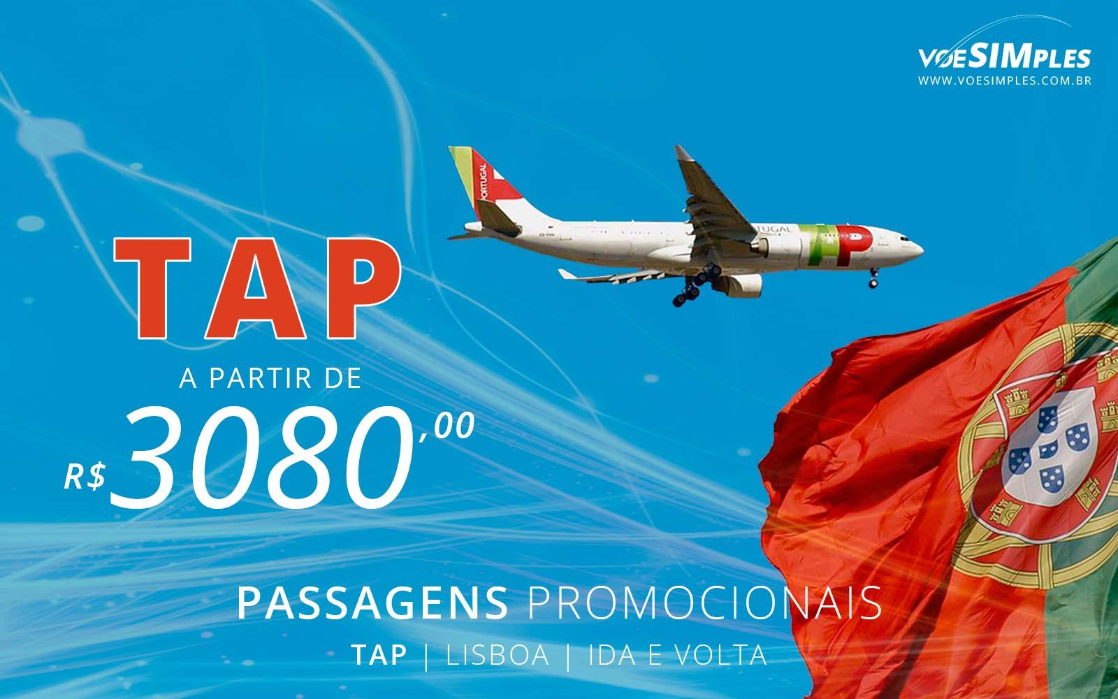 Passagem aérea promocional TAP