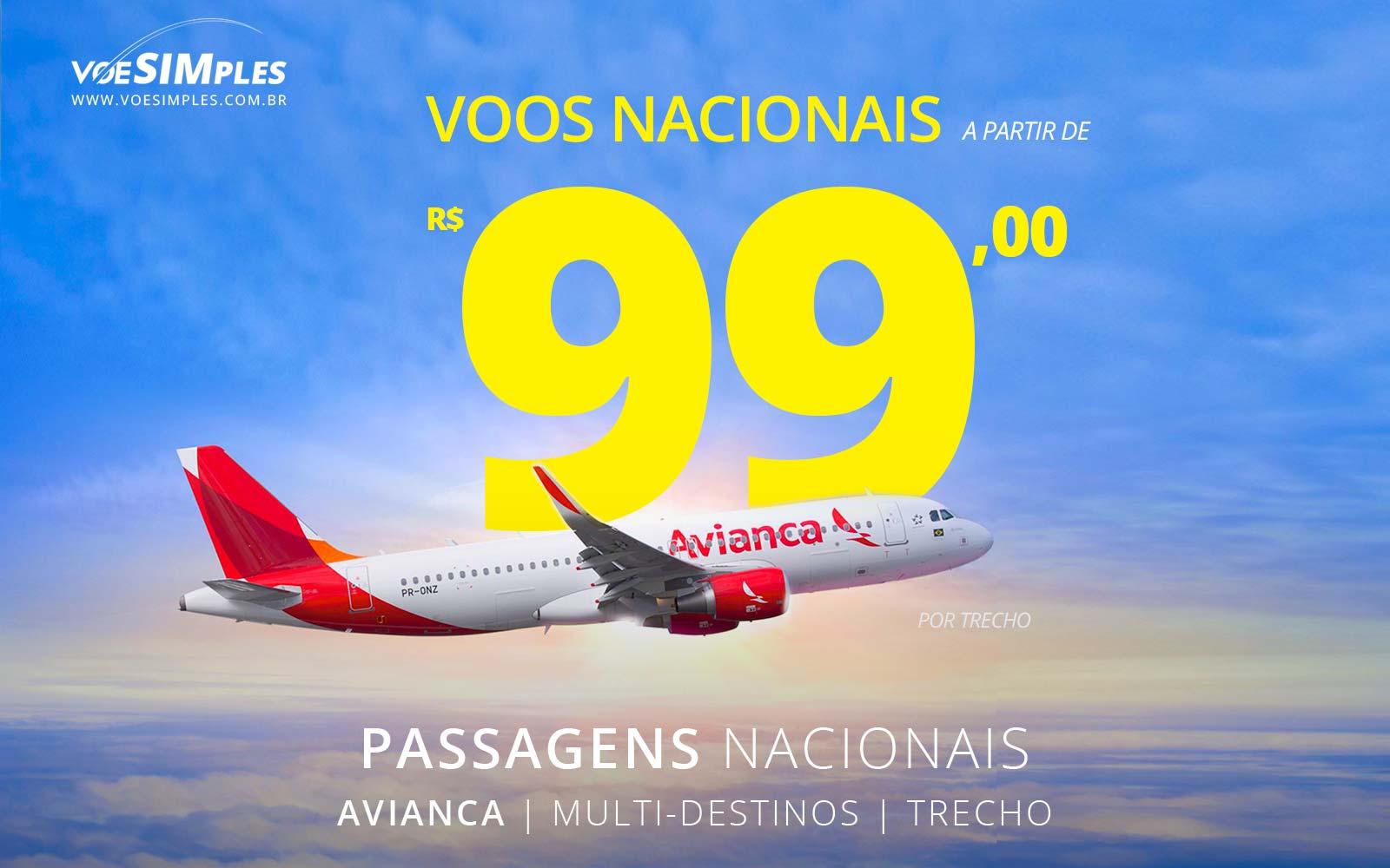 Passagens aéreas promocionais Avianca