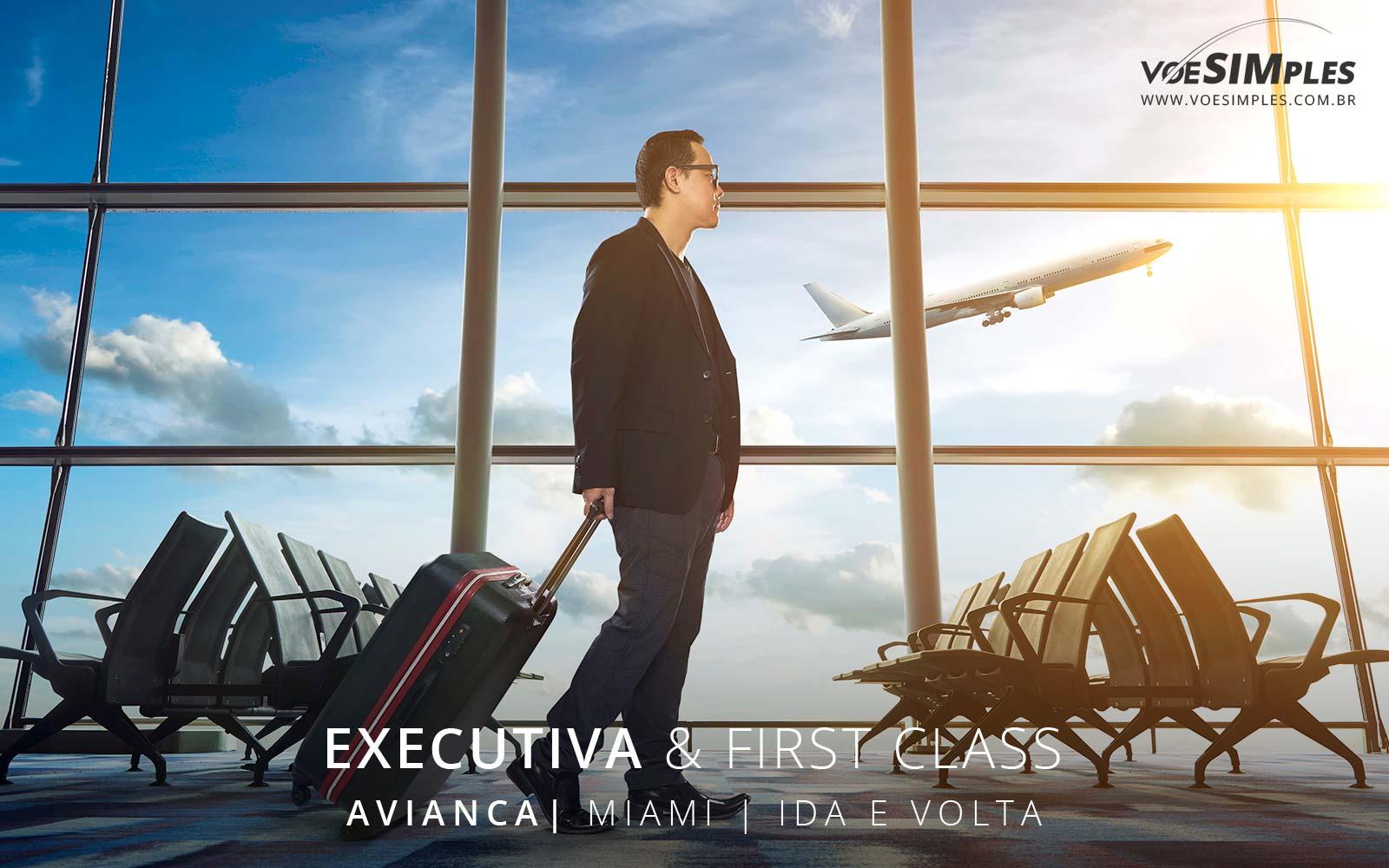 Passagem aérea executiva promocional