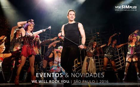 "Espetáculo ""We will rock you"""