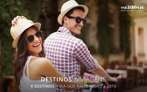 destinos para viajar no Dia dos Namorados