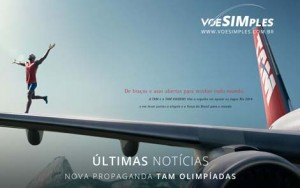 Primeira Propaganda da TAM para a Olimpíada
