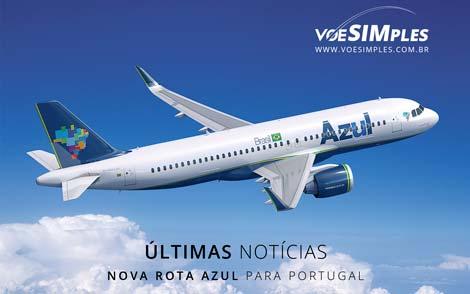 Nova rota Azul para Portugal