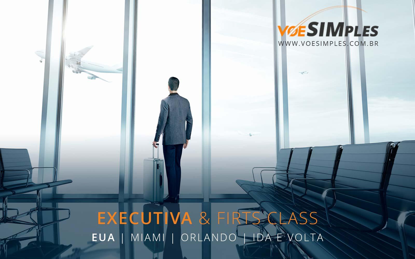 Passagem aérea promocional para Orlando e Miami
