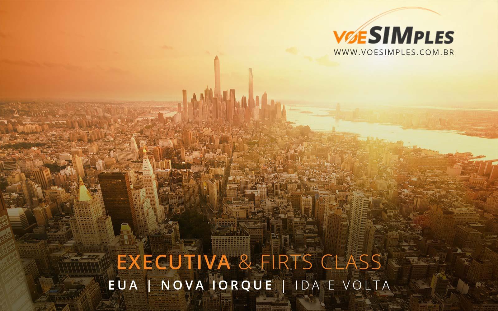 Passagens aéreas em Classe Executiva para Nova York nos Estados Unidos