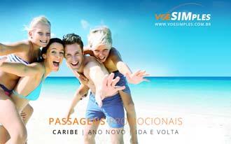 Passagem aérea em promoção para o Ano Novo no Caribe