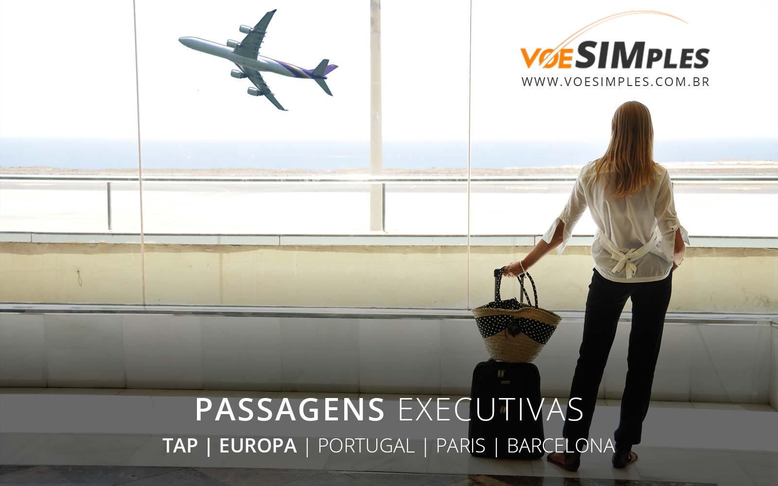 Passagem aérea Classe Executiva TAP