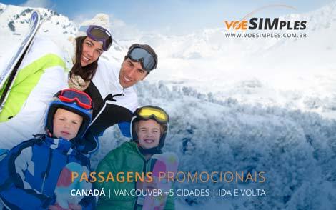 Promoção de passagem aérea para o Canadá