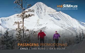 Promoção de passagem aérea para o Ano Novo no Chile