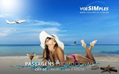 Passagem aérea promocional Caribe