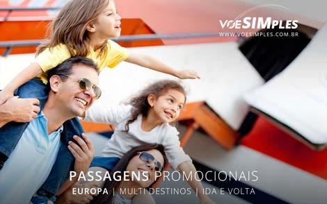 Passagem aérea promocional Europa