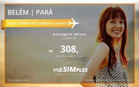 Passagens aéreas promocionais para Belém