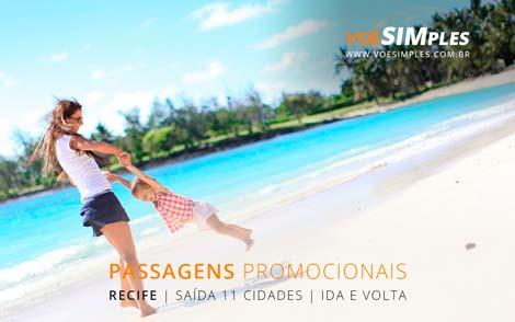 Passagem aérea promocional para Recife