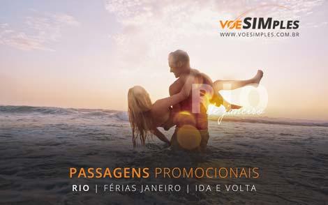 Passagem aérea promocional em Janeiro para o Rio