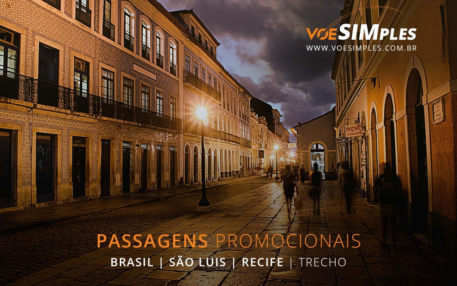 Passagens aéreas baratas de Recife para São Luís