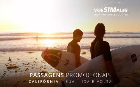 Passagem aérea promocional para a Califórnia
