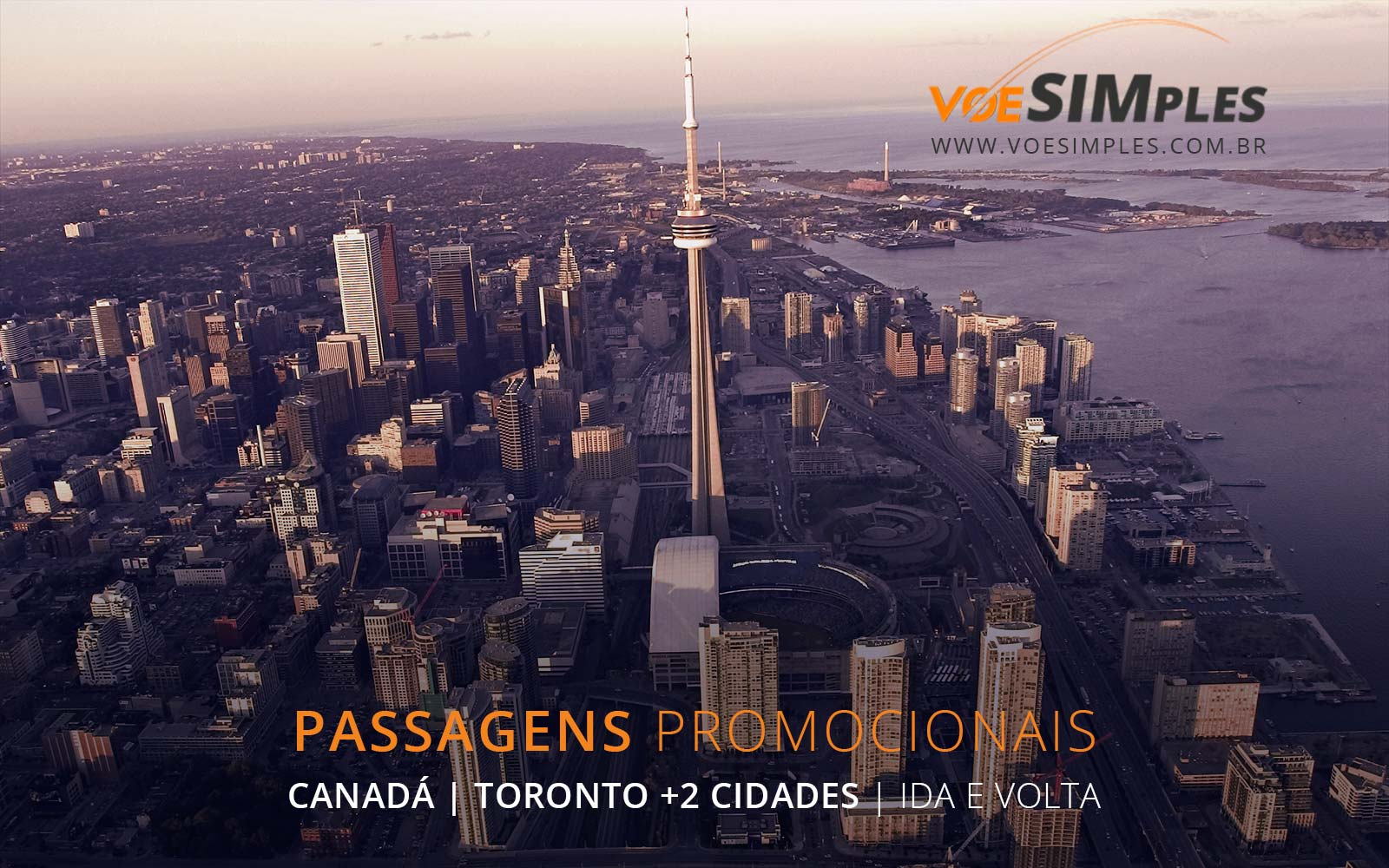 Passagens aéreas baratas para Toronto, Quebec e Ottawa no Canadá