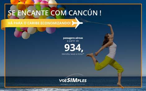 Passagem aérea promocional para Cancún