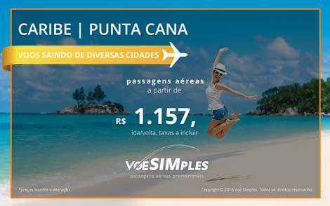 Passagens aéreas promocionais para Punta Cana