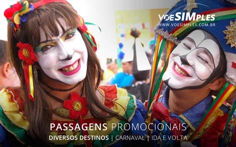 passagens aéreas promocionais para o Carnaval