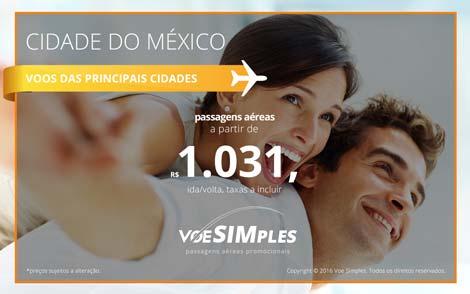 Passagens aéreas promocionais para Cidade do México