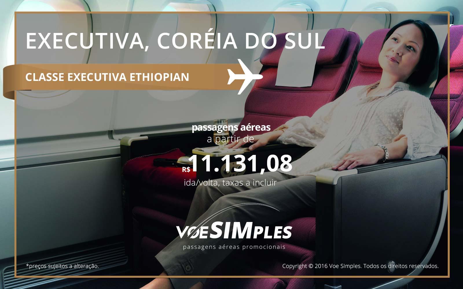 Passagem aérea Classe Executiva Ethiopian Airlines para Coreia do Sul