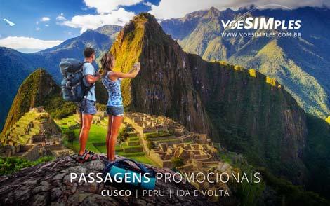 Passagem aérea promocional para o Peru