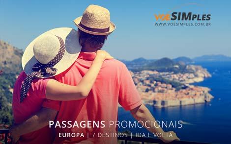 Passagem aérea em promoção para Europa