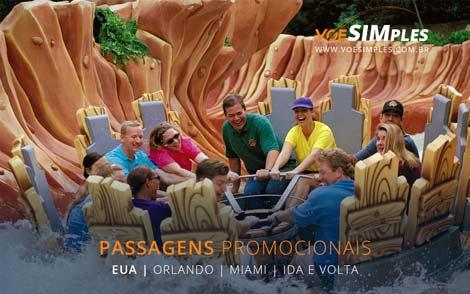 Passagem aérea promocional para Miami e Orlando