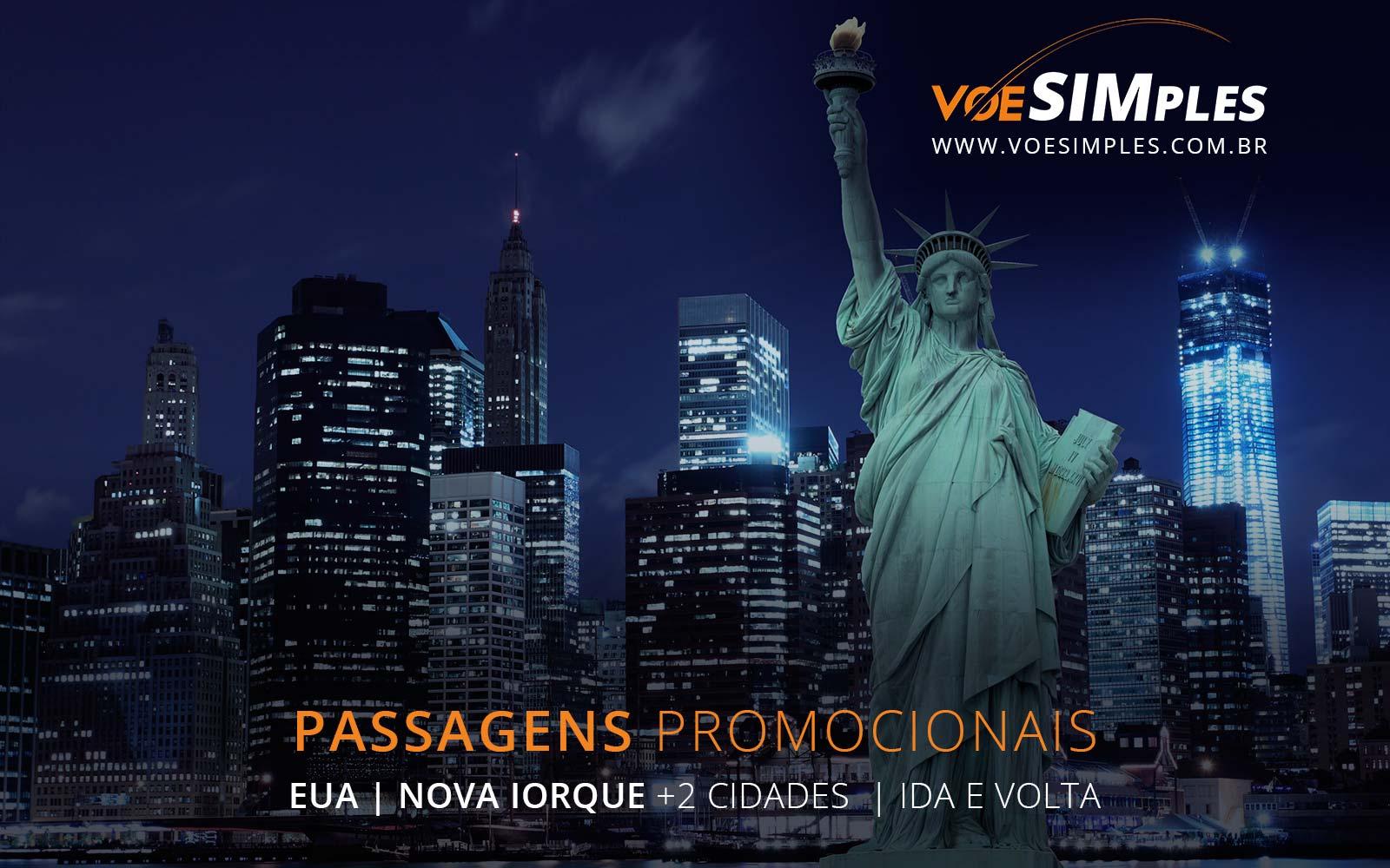 Passagens aéreas promocionais para Nova York, Washington e Baltimore nos Estados Unidos