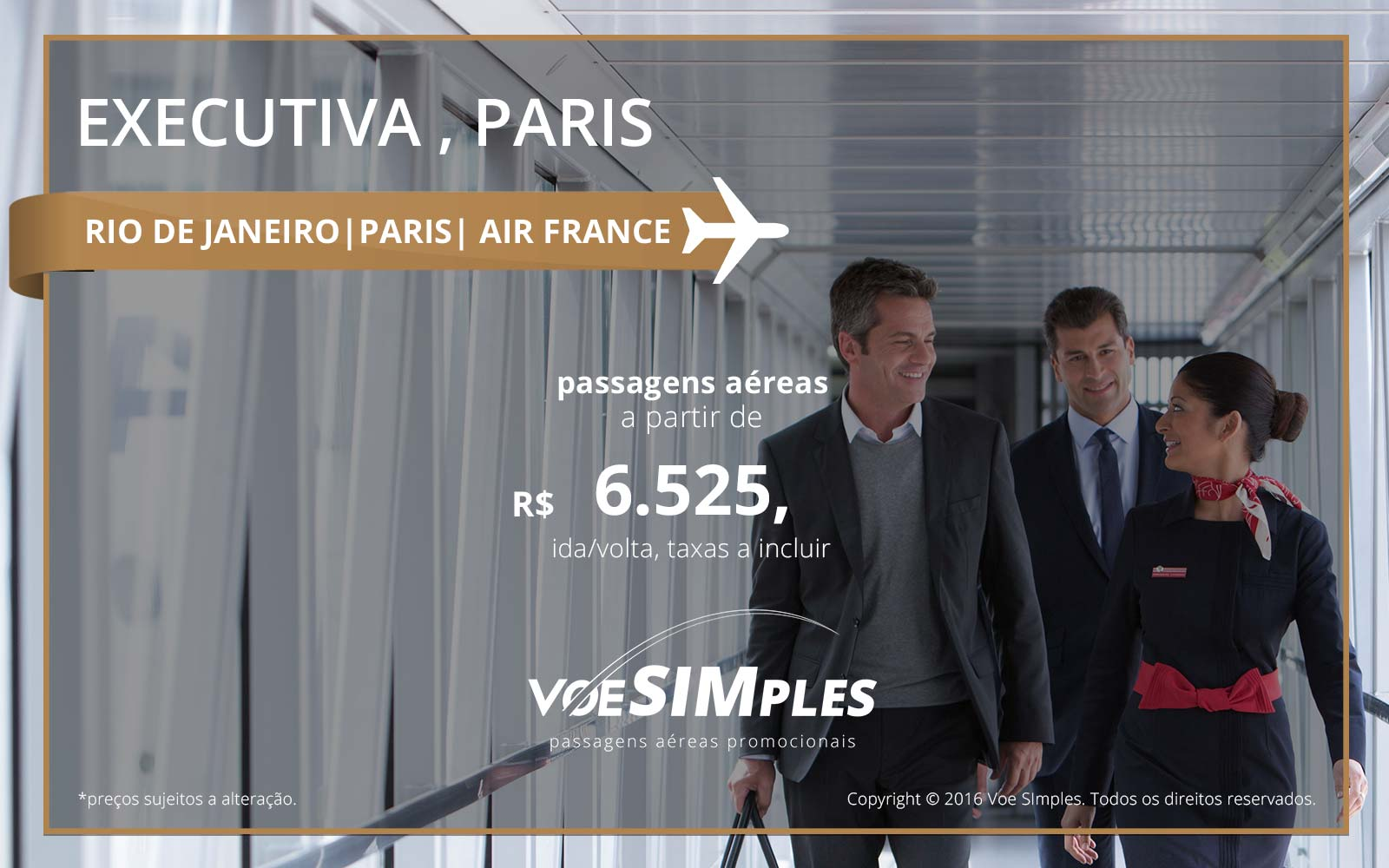 Passagem aérea Classe Executiva Air France para Paris