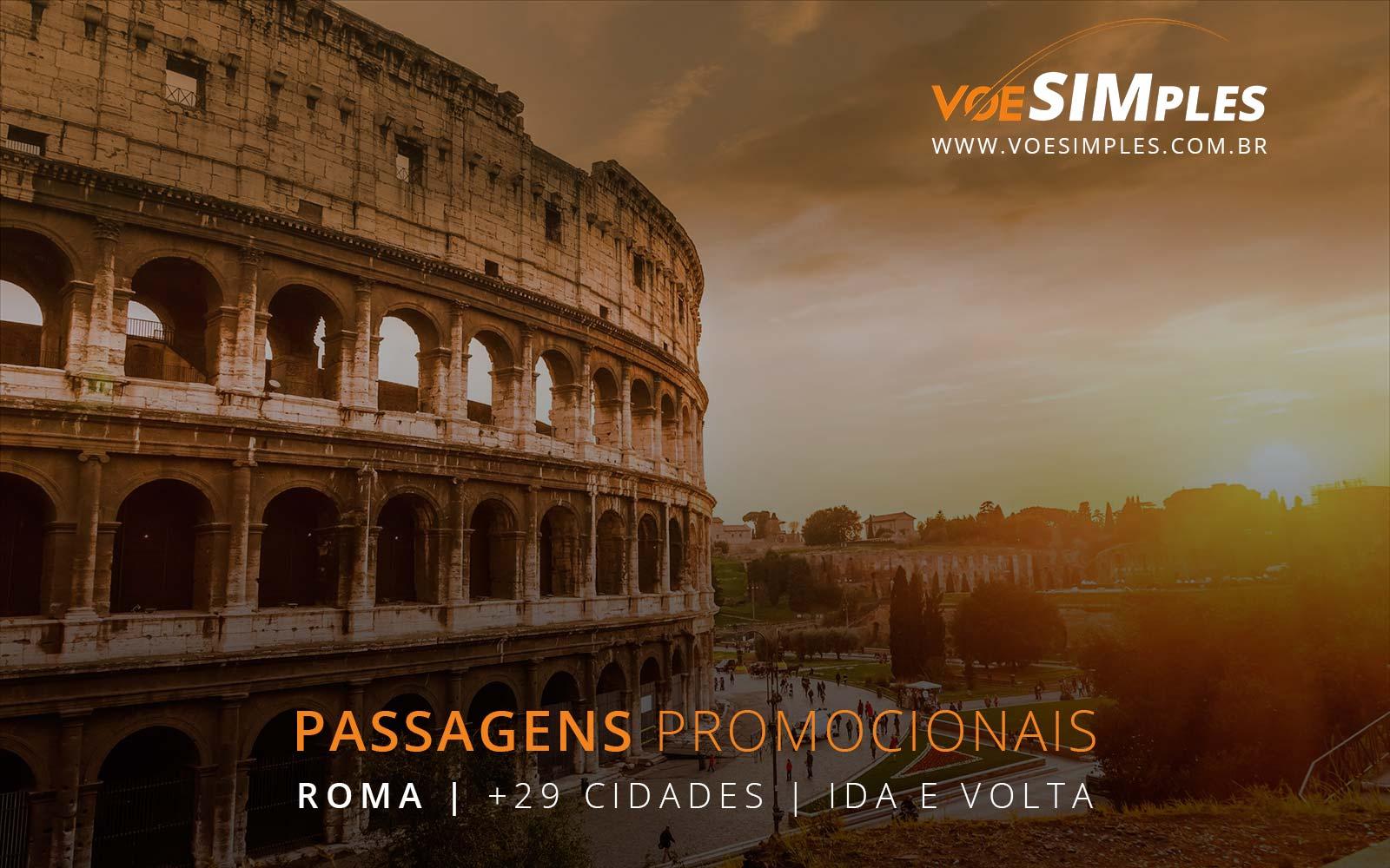 Passagens aéreas promocionais para Roma, Amsterdã, Lisboa, Paris e Veneza na Europa