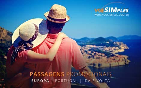 Passagem aérea barata para Portugal
