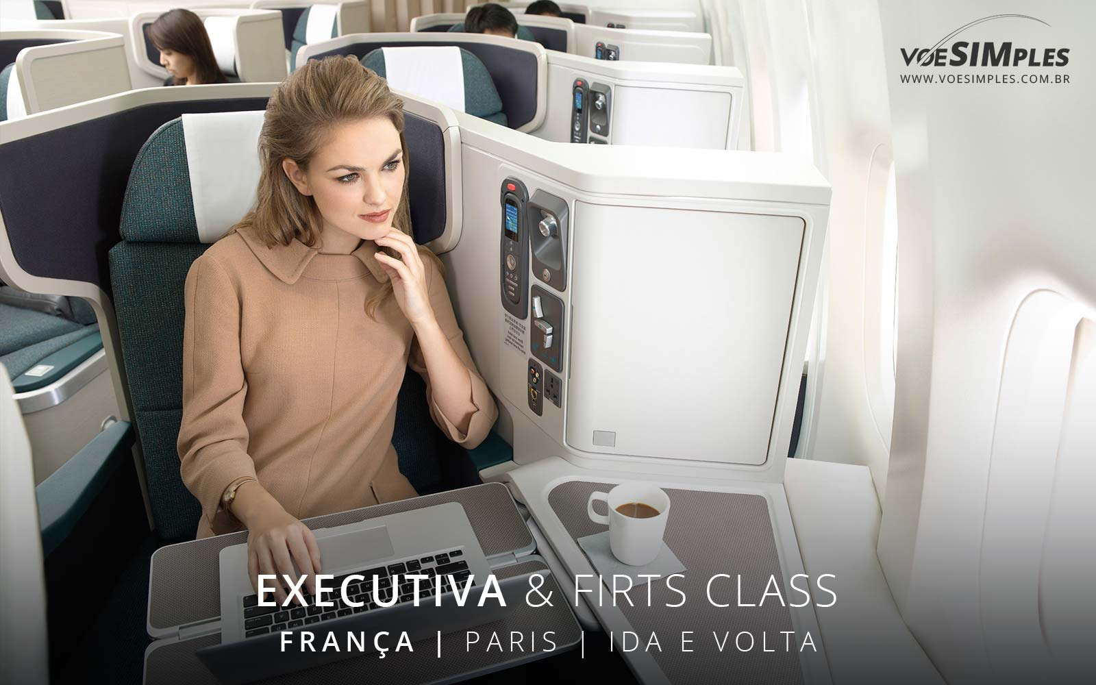 Passagem aérea Classe Executiva Air France para Paris