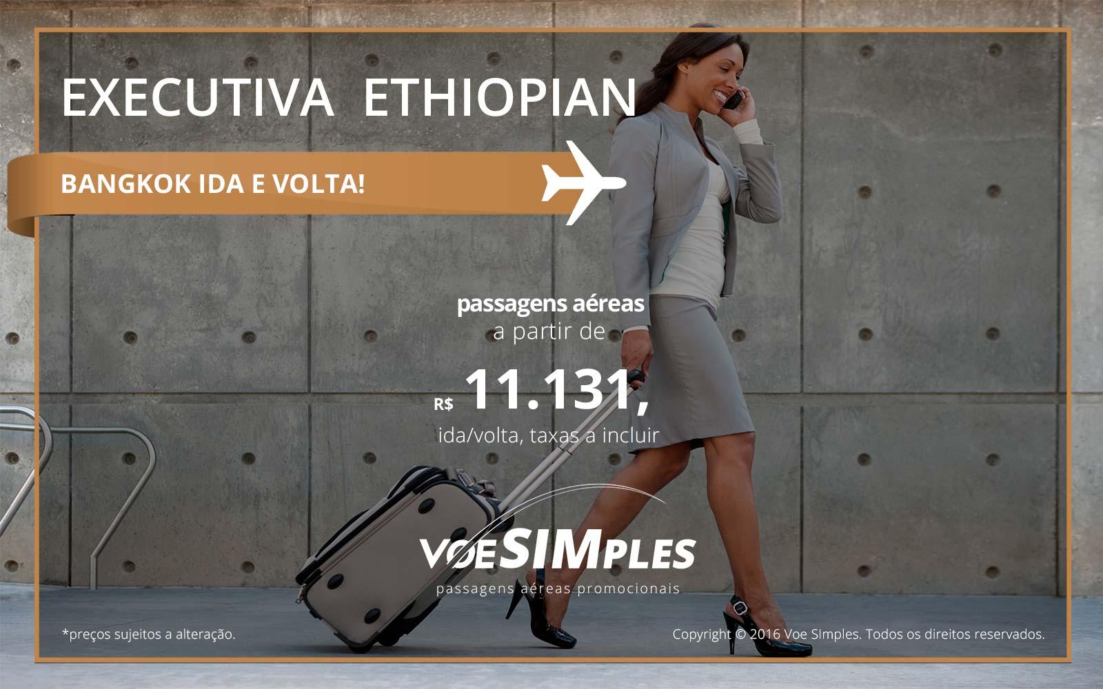 Passagem aérea Classe Executiva Ethiopian Airlines para Bangkok