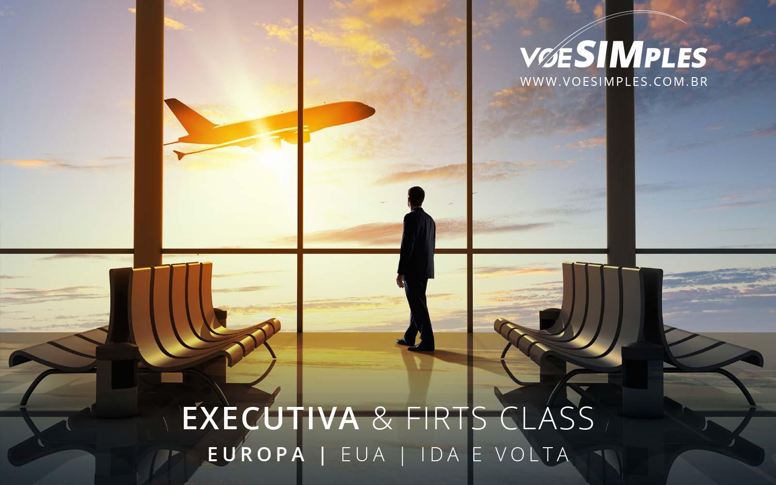 Passagens aéreas promo Classe Executiva da Europa para Estados Unidos