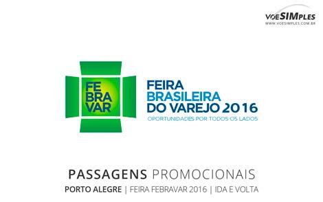 Passagem aérea para a Feira Febravar 2016