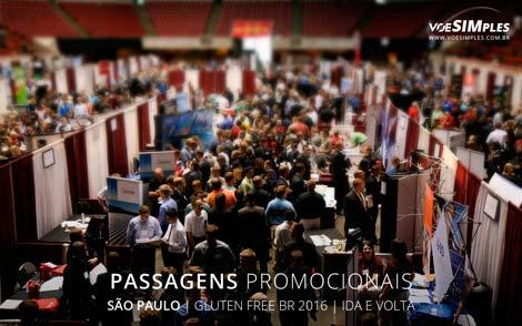 Passagem aérea promocional para a Feira Gluten Free Brasil 2016