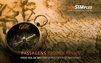 Promoção de passagens Gol saindo de Belo Horizonte