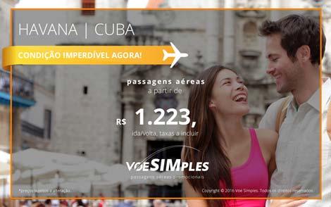 Passagens aéreas promocionais para Cuba