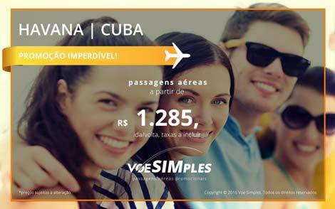 Passagens aéreas promocionais para Havana
