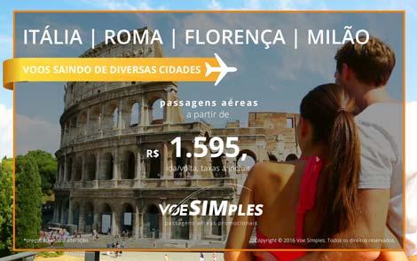 Passagem aérea promocional para Itália
