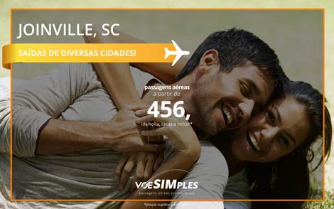 Passagens aéreas promocionais para Joinville