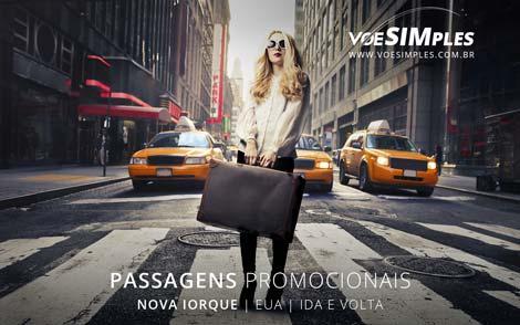 Passagem aérea em promoção para Nova York