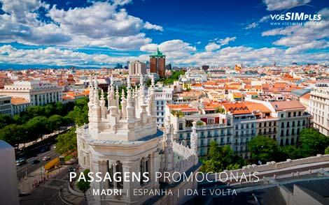 Passagem aérea promocional para Madri