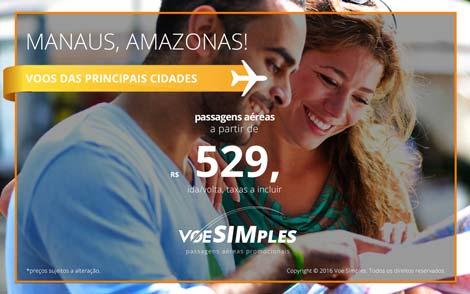 Passagem aérea promocional para Manaus