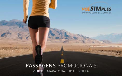 Passagem aérea promocional Maratona de Santiago