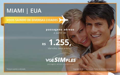 Passagens aéreas promocionais de São Paulo para Miami nos Estados Unidos
